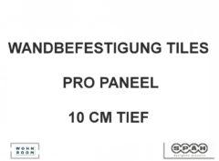 Spaeh designed acoustic tiles Aufhängung Wand